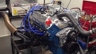 Holden 308 355 stroker on engine dyno 424HP