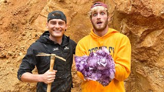 Logan Paul Finds Super Rare $100,000 Amethyst Crystal! (Unbelievable Find)
