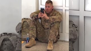 "Airport Staff Hear ""Don't Let Him Board The Flight, They Spot Soldier Crying At Sight On His Phone"