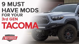 9 Must Have Mods for the 3rd generation Toyota Tacoma (2016+)