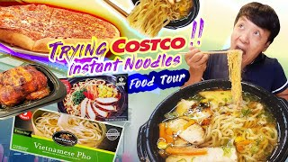 TRYING COSTCO Instant Noodles, ASIAN FOOD | COSTCO Food Tour!