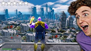 Playing as THANOS in GTA 5.. (GTA 5 Mods)