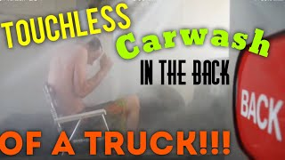 Hilarious!! Automatic car wash in the back of a truck!