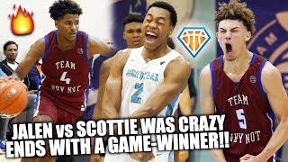 JALEN GREEN vs SCOTTIE BARNES END WITH GAME-WINNER!! | Coach Cal Watches 5 STARS BATTLE at Peach Jam
