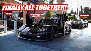 GETTING THE PAGANI, KOENIGSEGG, & LAMBORGHINI ALL TOGETHER FOR THE RALLY! W/ ALEX CHOI