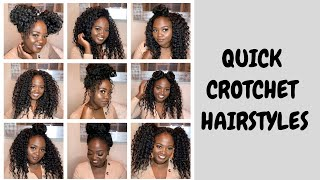 QUICK TUTORIAL | EASY HAIRSTYLES FOR CROTCHET & BRAIDS