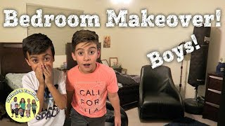 BOYS SURPRISE FULL BEDROOM MAKEOVER | WE MADE OVER THE ENTIRE ROOM & PAINTED THE WALLS TOO