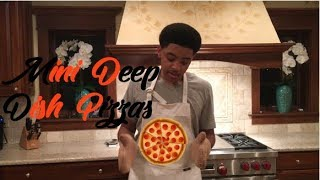 HOW TO MAKE MINI DEEP DISH PIZZAS!!! [COOKING WITH BLAKE] [#02]
