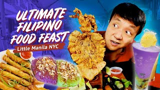 ULTIMATE FILIPINO FOOD FEAST in LITTLE MANILA New York!