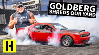 Goldberg Wrestles 1,200hp Worth of Dodge Challenger, Who Will Win??