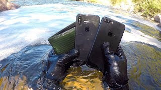 I Found an iPhone X, iPhone 7+ and Wallet Underwater in the River! (River Treasure)