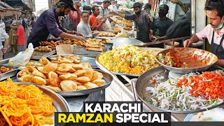 RAMZAN SPECIAL | HUGE IFTAR VARIETY at LUQMAN | SHAMS CHAAT HOUSE | KARACHI STREET FOOD, PAKISTAN