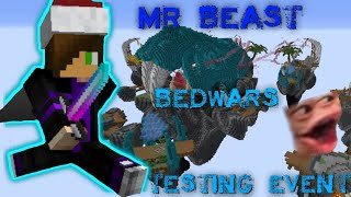 Gaming in the Mr. Beast BEDWARS Testing Event