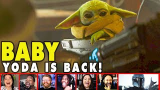 Reactors Reaction To Baby Yoda Adorable Return In The Mandalorian Season 2 Trailer | Mixed Reactions