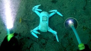 Found Crashed Drone & Working Camera Buried Underwater Beneath Waterfall! (Testing LeFeet S1)
