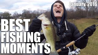 BEST FISHING MOMENTS OF JANUARY! (2016) | DALLMYD