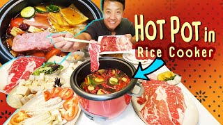 HOMEMADE SPICY HOTPOT in RICE COOKER & WORST FOOD POISONING Story