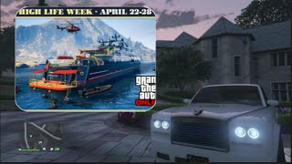 Gta 5 High life week update Double Money & RP 20% off Super Yacht