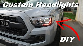 Custom DIY TRD PRO Headlights - 2020 Tacoma Off Road