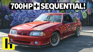 This 700HP Sequential Transmission Ford Mustang Cobra EATS. And the Owner Lets us Shred!