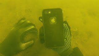 Found iPhone 8 Underwater in a Lifeproof Case! (Does it Still Work?)