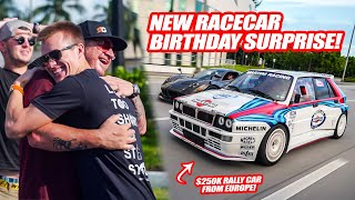 JIMBO SURPRISES RANDY W/ HIS NEW LANCIA DELTA INTEGRALE RACE CAR *EARLY* FOR HIS BIRTHDAY!