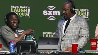 "Donovan McNabb Gifts Kevin Hart a Signed Jersey on ""Laugh Out Loud."""