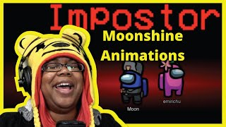 AMONG US  Ft  Emirichu, Daidus, PastryFiend & Zfly | MOONSHINE ANIMATIONS | AyChristene Reacts