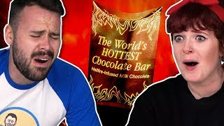 Irish People Try The World's Hottest Chocolate (9 Million Scoville!)