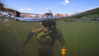 Found Boat Motor and Anchors while Swimming in River! (Freediving) | DALLMYD