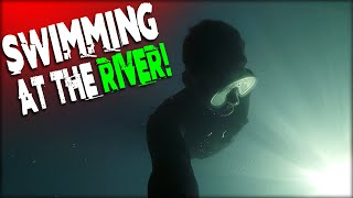 SWIMMING IN THE RIVER! | DALLMYD