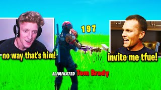 TFUE FINDS *REAL* TOM BRADY in FORTNITE SOLO MATCH 😂 (HILARIOUS)