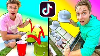 We Tested VIRAL TikTok TRICK SHOTS!!