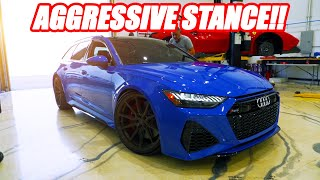 WE LOWERED THE AUDI RS6 AVANT!!! *AN ABSOLUTE LEAD SLED*