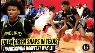 Jalen Green Wasn't Scared of Texas! Prolific Prep Vs Lancaster At Thanksgiving Hoopfest