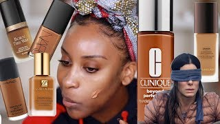 Blind Guessing My Foundations!! Chiiile This Is HARD | Jackie Aina