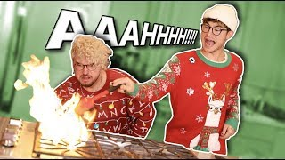 CHRISTMAS COOKING W/ KNJ *GONE WRONG*