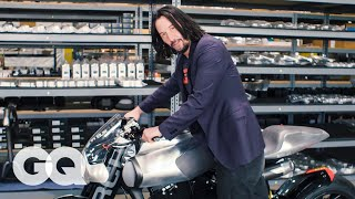 Keanu Reeves Shows Us His Most Prized Motorcycles | Collected | GQ