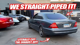 STRAIGHT PIPING THE $17,000 V12 MERCEDES S65! *SOUNDS LIKE THE PAGANI HUAYRA!* W/ ALEX CHOI