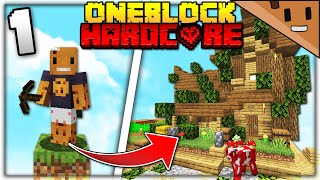 I Transformed ONE BLOCK into an ENTIRE VILLAGE (Minecraft Hardcore One Block #1)