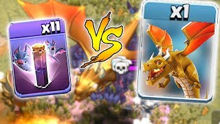 "11x BATS vs. END BOSS DRAGON!! ""Clash Of Clans"" NEW UPDATE!!"