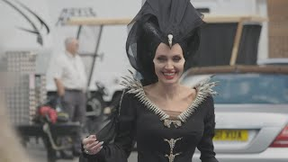 Watch Angelina Jolie Play Ping-Pong as 'Maleficent' on Set (Exclusive)