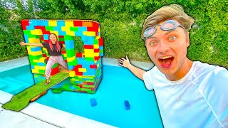 Spending 24 Hours Straight In My Pool (w/ LEGO House)