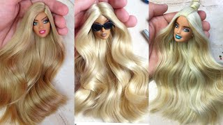 Amazing Trending  Hairstyles Barbie ~ DIY Miniature Ideas for Barbie ~ Wig, Dress, Faceup, and More
