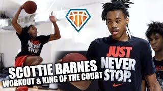 Scottie Barnes WORKOUT & KING OF THE COURT Highlights!! | Top 5 Junior in the NATION Gets After It
