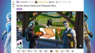 Doctor Doom takes over Pleasant Park @TodayFortniteGame