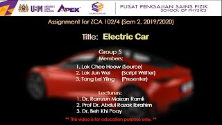 Electric Car - Group 5 (ZCA102 2019/2020)