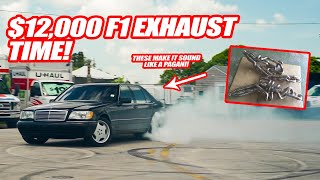 FINALLY PUTTING THE INSANE $12,000 F1 EXHAUST ON MY S600! *MAKES IT SOUND LIKE A PAGANI ZONDA*