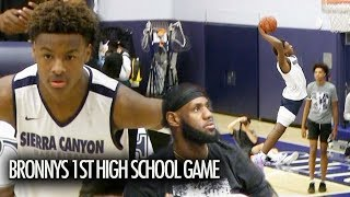 Bronny James KNOCKS DOWN 3's In His High School Debut In Front Of LeBron