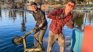 What Will My Giant Magnet Find in LA's Most Dangerous Park? (Magnet Fishing w/Steve-O)